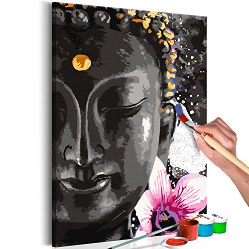 murando - Malen nach Zahlen Buddha 40x60 cm Malset mit Holzrahmen auf Leinwand für Erwachsene Kinder Gemälde Handgemalt Kit DIY Geschenk Dekoration n-A-0550-d-a
