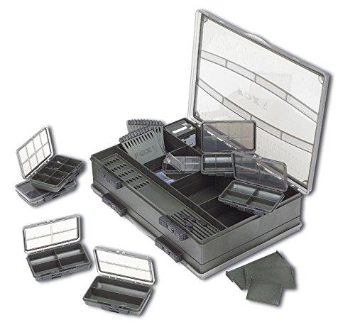 Fox F Box Double Deluxe Large Box System Tacklebox, Angelbox 35x25x9cm, Angelkasten inkl. Kleinteileboxen, Angelkoffer