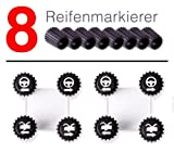 Ultimate Speed Velocidad Final Reifenmarkierer-Set, 8 pcs, Casquillos...