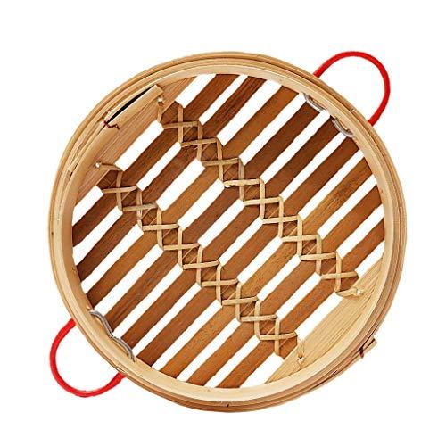 Batterie de cuisine durable Vaisselle en bambou Cuisine chinoise Batterie de cuisine Poisson Riz Dim Sum Panier Riz Cuiseur De Pâtes Avec Couvercle (Taille : 20cm 2 layers)