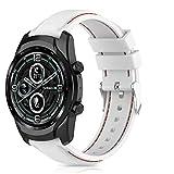 RIOROO Compatibile per Ticwatch Pro 3/Pro 3 LTE/Pro/Pro 2020/ E2/S2/GTX cinturino, 22mm...