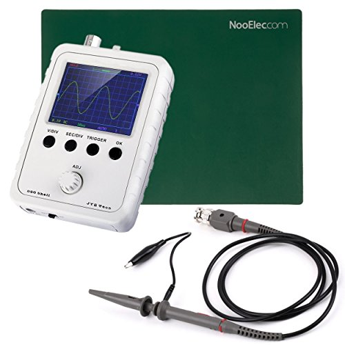 JYETech 'DSO Shell' Osciloscopio DIY Kit w/Enclosure, sonda de 100MHz, sonda de clip y ESD-Safe Mat Silicona