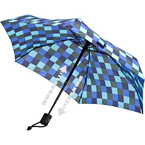 Euroschirm Dainty Automatic der Sonnen-, Wander-, Regen- & Trekkingschirm Farbe Marine/Oliv/kö'blau/eisblau