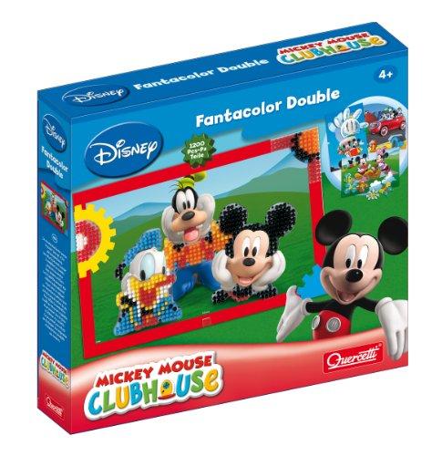 Quercetti 13/7314 Fantacolor - Mosaico Disney Mickey Clubhouse (1200 Piezas de 5 mm)