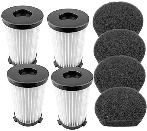 4 filtros y 4 esponjas para Aspiradora Cecotec Conga Thunderbrush 520 550 560 e Handyforce 2761 2759