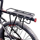 EverFabulous Portabiciclette, Regolabile in Alluminio Universale da 110 lb capacità Massima di...