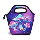 Colorful Lunch Bags for Women, Psychedelic Mushroom Pattern Boys Girls Insulated Lunch Tote Reusable Lunch Boxs for Kids School Office Work Travel Picnic Bags