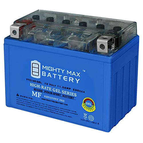 Mighty Max Battery YTZ14S 230CCA Gel Battery for Honda ST1300 ABS (2003-2012) Brand Product