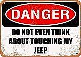 CDecor Do Not Touch My Jeep Blechschilder, Metall Poster,