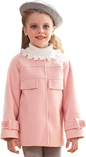 Girls' Winter Warm Jacket Crewneck Overcoat Long Sleeves Tops Pink