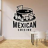 wZUN Calcomanía de Pared de Comida rápida Comida Mexicana Nachos Letras Logo Vinilo Pegatina Restaurante decoración 85X94cm