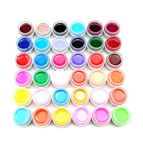 36 Colors Nail Painting Gel Polish Soak Off UV Sculpture Gel DIY Nail Polish Diy Plate Module Gel Tool