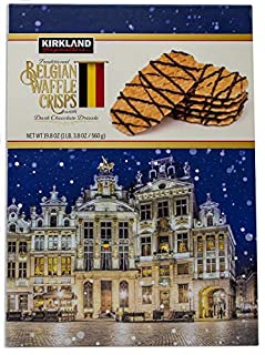 Kirkland Signature Traditional Belgian Waffle Crisps with Dark Chocolate Drizzle, 19.8 oz (560 grams) (B005KRSQK4) | Amazon price tracker / tracking, Amazon price history charts, Amazon price watches, Amazon price drop alerts