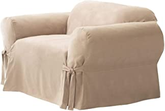 Surefit Furniture Slipcover for Arm Chair Suede, Taupe