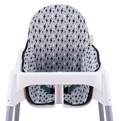JANABEBE Colchoneta para trona antilop Ikea (Black Rayo)