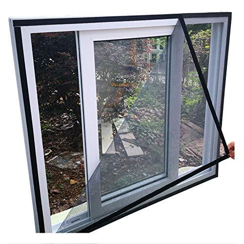 HTDG Vliegengaas voor dakramen, zwart, transparant, aluminium, zelfklevend, voor ramen, gemaakt van een vliegengaas voor ramen, zonder boren, fijn netwerk