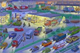 Poster 60 x 40 cm: Auto Wimmelbild bei Nacht von Stefan