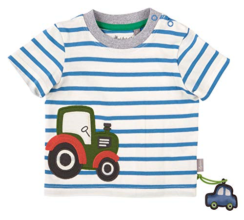 Sigikid Baby-Jungen T-Shirt, Traktor/Gestreift, 74