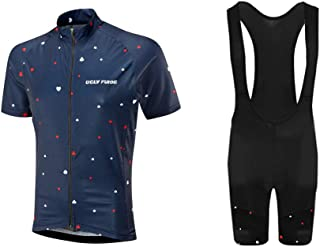 Mens Pro Team Style Short Sleeve Cycling Jersey Suit Jersey and Bib Shorts XSNX01S