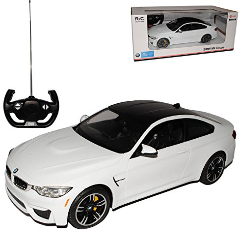 B-M-W 4er M4 F32 Coupe Weiss Ab 2013 RC Funkauto - mit Beleuchtung - 1/14 Rastar Modell Auto