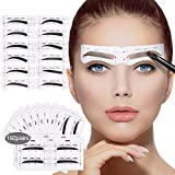 192 Pairs Eyebrow Stencil,12 Eyebrows Shape, Eyebrows Template Grooming Stencil Kit Stickers for Beginners