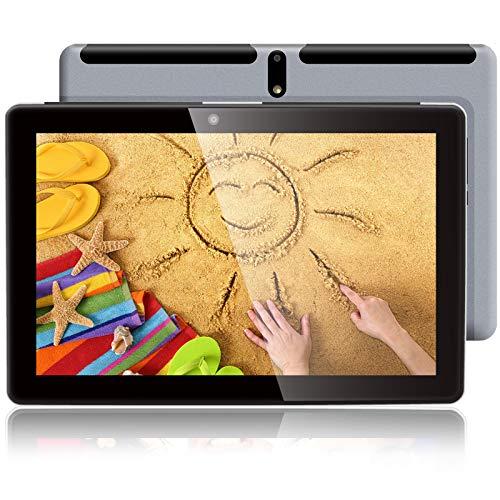 10 Zoll Tablet Octa Core Android Tablet 3GB RAM 32GB Speicher, WiFi 4G LTE Tablet mit Dual-SIM-Kartensteckplätzen, Silber