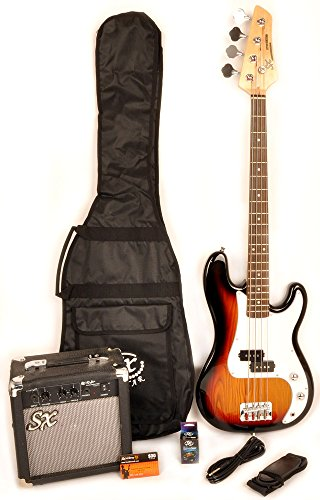 Ursa 1 JR RN PK 3TS 3 Tones 3/4 Size Bass Guitar Package w/Amp Bag, Strap and On Line Video Instruction