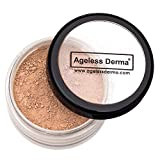 Ageless Derma Loose Mineral Foundation Sea Shell with Vitamin A, E and green tea extract. 100% Mineral Makeup, No Paraben, Made in USA