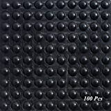 Almohadillas de Pies de Goma SAIYU 100 Piezas Almohadilla de Parachoques Adhesiva de Silicona...