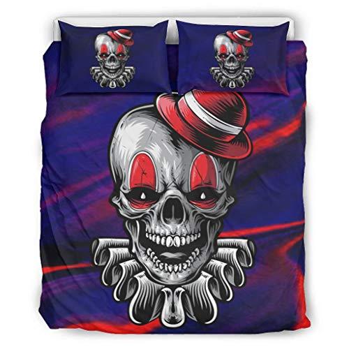 BONC Skull Chic Printed Bed Set Duvet Quilt en kussensloop All Seasons Light eenpersoons beddengoed sets voor kinderen met rits