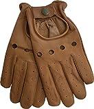 German Wear, Herren Driving Autofahrer-Handschuhe Lederhandschuhe, Größe:9=L, Farbe:Braun