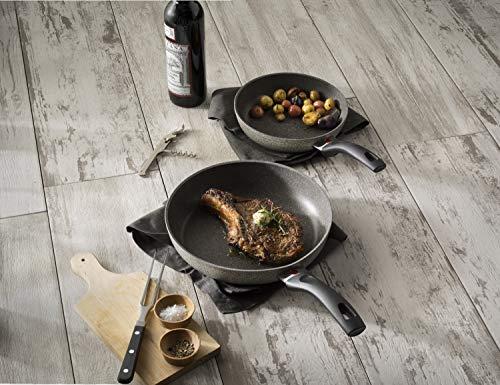 Ballarini Parma Forged Aluminum Nonstick Cookware Set, 10-Piece, Granite