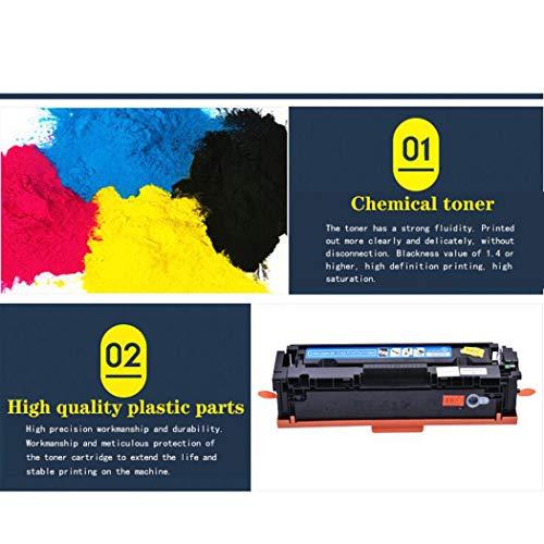 WENMWCompatible con Cartuchos de tóner HP 203a para impresoras láser Color HP Laserjet Pro M254DW/254NW/M280NW/M281FDW/281FDN, Color K