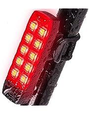 自転車 テールライト、防水USB充電式 バイクリアライト 6モード(USBケーブル不要)、スーパーブライト、10 LED、簡単なクリップオン、自転車の安全のための赤い尾灯