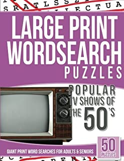 Large Print Wordsearches Puzzles Popular TV Shows of the 50s: Giant Print Word Searches for Adults & Seniors