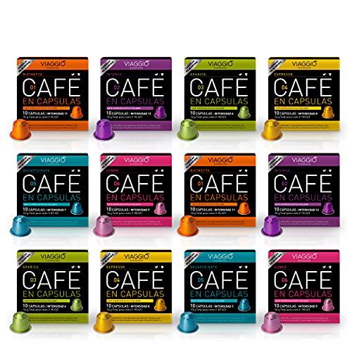 Viaggio Espresso Capsules de café compatibles avec les machines Nespresso Sélection classique (120 Capsules)