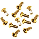 12PCS Tornillos de los Pernos del Rotor del Freno de Bicicleta de Montaña M5 * 10 mm Tornillos de Disco de Freno de Acero Inoxidable Tornillos fijos para Reparación de Bicicletas DIY (Gold)