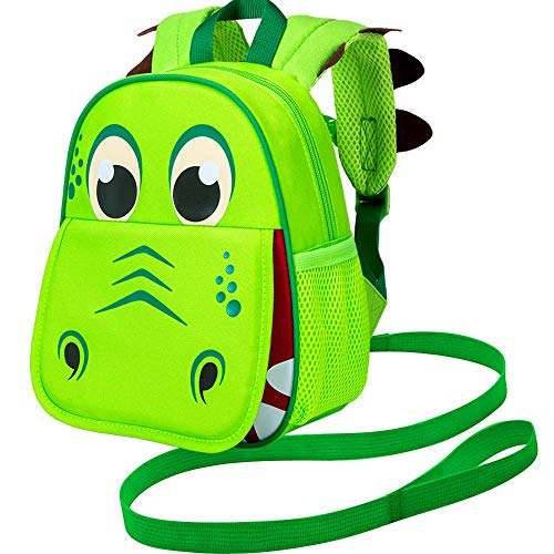Product Image of the Toddler Backpack Leash, 9.5' Safety Harness Dinosaur Bag - Removable Tether