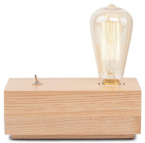 It's about RoMi KOBE Lampe à poser, Bois de chêne, E27, 40 W, Marron