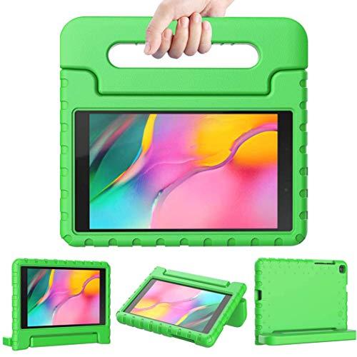 iMoshion Compatible con Samsung Galaxy Tab A 8.0 (2019) – Funda para tablet infantil – Funda para tablet Kids Case en verde con asa y soporte [resistente, antideslizante y antigolpes]