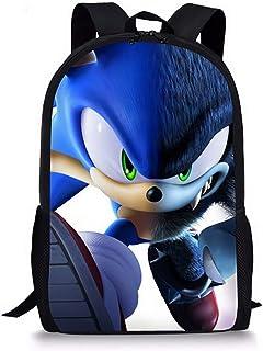 So-nic Mochila para niñas y niños, mochila escolar de anime, unisex, bonita mochila escolar de 30 x 10 x 24 cm, V