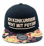 Outfitfabrik ❤️ Snapback Cap Ich konkurriere Nicht mit Fotzen in schwarz, Schirm mit...