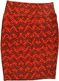 Lularoe Cassie (Medium) (Orange Brown Patterns)