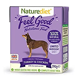 NUTRITIONALLY BALANCED - This complete and nutritionally balanced natural dog food contains all the essential nutrients your dog needs for a healthy diet. Made with freshly prepared Turkey, Chicken and wholefoods. 100% NATURAL INGREDIENTS FOR GENTLE ...
