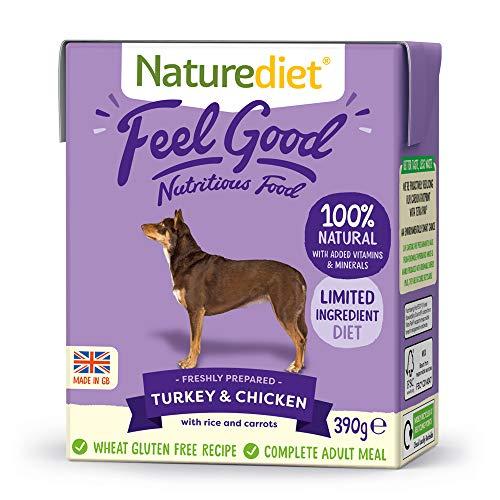 Naturediet Comida Húmeda Completa De Pollo Y Pavo Feel Good 390 G X 18 - Paquete de 18 x 416.67 gr - Total: 7500 gr