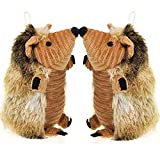 plush non-toxic material hedgehog pet toys with squeakers