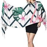 N/A Esotico estate stampa seamless pattern tropicali grandi sciarpe per le donne sciarpa di cashmere inverno sciarpe cashmere grande morbido pashmina extra caldo