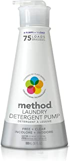 Method Laundry Detergent with Pump, Free + Clear, 30 Ounce, 75 Loads