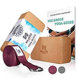 NAJATO Sports Yoga Block Kork 2er Set: Amazon.de: Sport & Freizeit: Fitness: Yoga: Blöcke