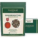 VAHDAM, Maharani Chai Oolong Tea (50 Cups) | 100% NATURAL SPICES | Masala Chai Tea Loose Leaf | Cardamom, Cinnamon, Clove, Black Pepper | Spiced Chai Tea | Brew Hot Tea, Iced Tea or Chai Latte | 100gm
